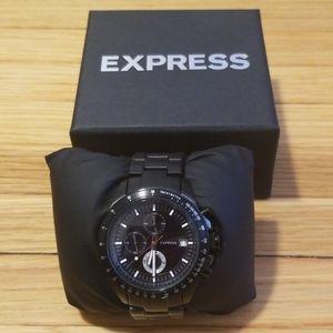 Express #1559 Black Steel Watch